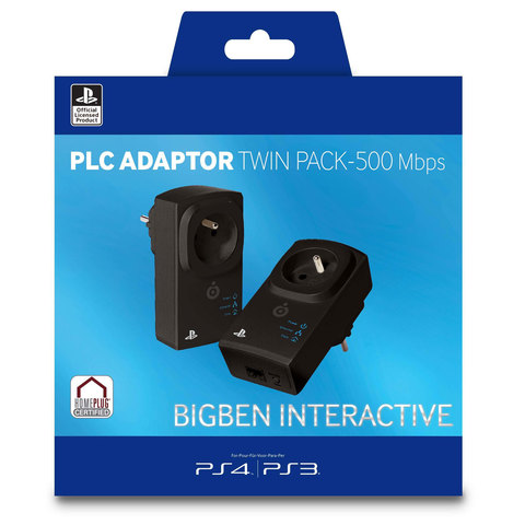 Bigben-PS3/PS4-PLC-Adaptor-Twin-Pack-500-Mbps