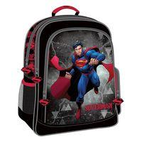 """Super Man - Backpack 16"""" Bk-Rd"""