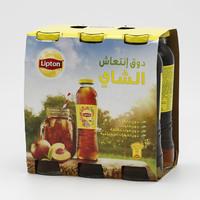 ليبتون شاي مثلج بنكهة الخوخ قارورة 275 مل × 6