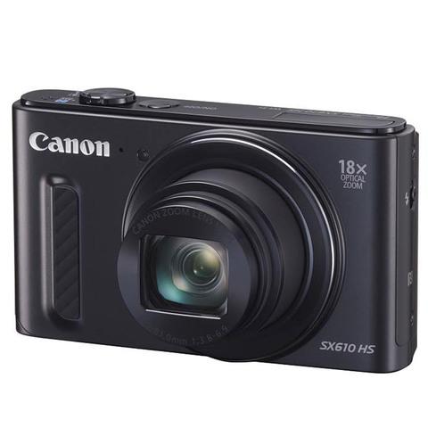 Canon-Camera-PowerShot-SX610HS-Black-+-4GB-Card-+Case