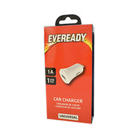Eveready Universal Car Charger 1A 1USB White
