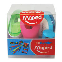 Maped Sharpener 4Pcs Assorted
