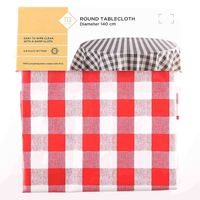 TEX Table Cloth Round 140 Red