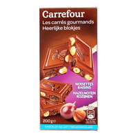 Carrefour Milk Chocolate Hazelnut and Raisins 200g