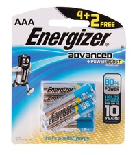 Energizer Advanced Titanium Battery AAA 4 pieces + 2 Free