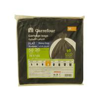 Carrefour Flat Garbage Bags Medium 20 Bags 50 Gallons