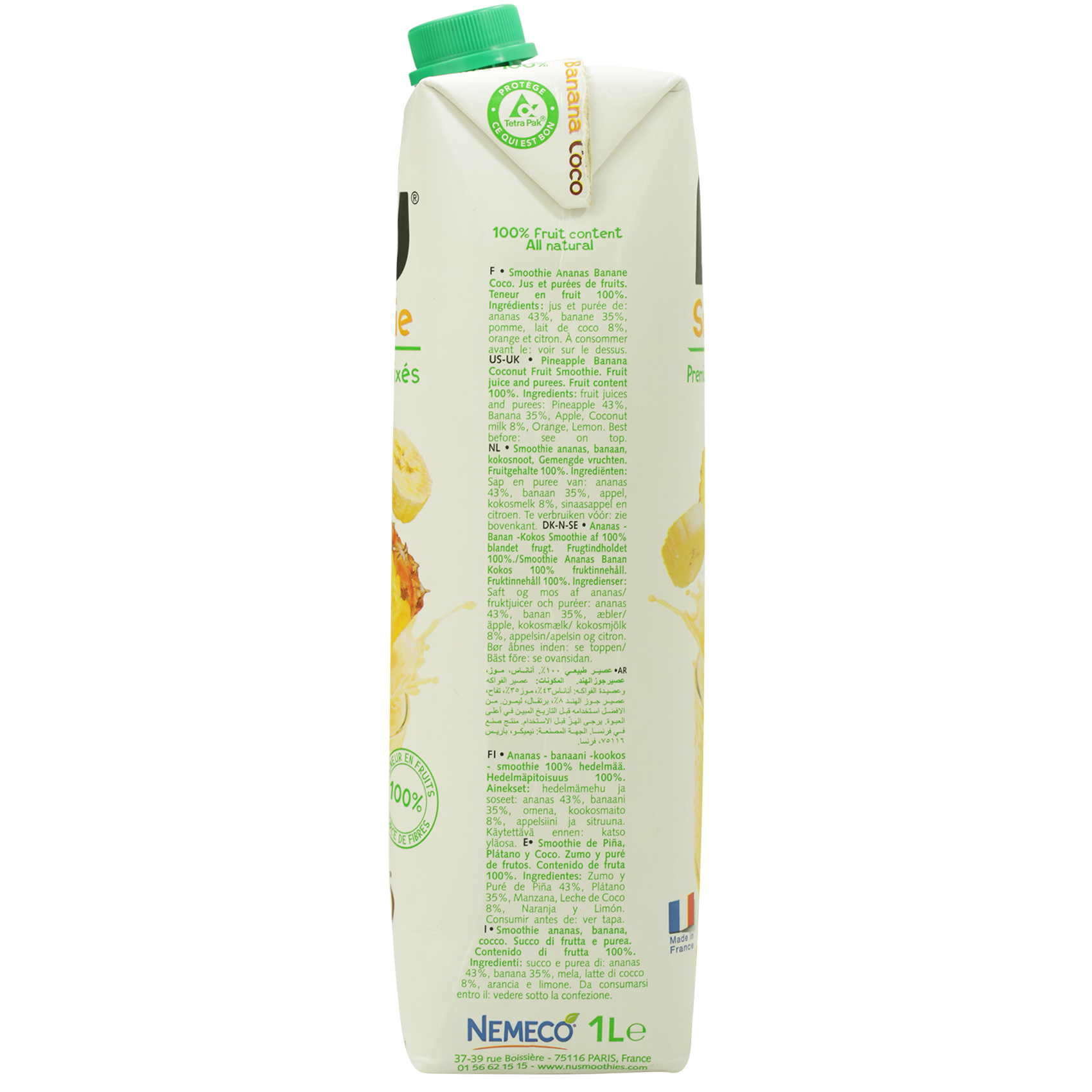 NU PINEAPPLE BANANA COCONUT 1L