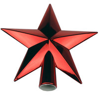 Christmas Star Tree Topper 20Cm Shiny/ Red