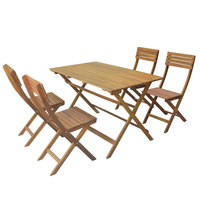 Economic Wooden Foldable Set 5pcs ( Delivered In 7 Business Days )