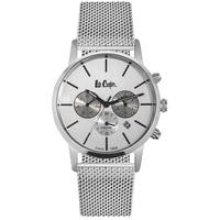 Lee Cooper Men's Multifunction Silver Case Silver Super Metal Strap Silver Dial -LC06342.330