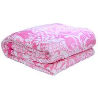 3D Super Soft Flannel Blanket Single Pink