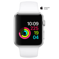 Apple Watch Series-1 42mm Silver Aluminium Case with White Sport Band