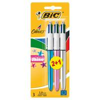 Bic 4 Colors Blister 2 Standard + 1 Fashion