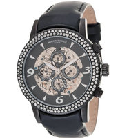 Mount Royale Unisex Watch Black Dial Leather Band-7S35 LBBG