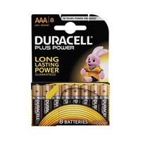 Duracell Plus Power Type AAA  Alkaline Battery X8