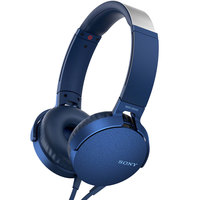 Sony Headphone MDR-XB550AP Extra Bass Blue