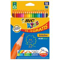 Bic Colouring Pencil Evolution Walet 14+4