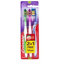 Colgate ZigZag Flexible Multipack Medium Toothbrush