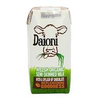 Daioni Organic Semi Skimmed Chocolate Milk 200ml