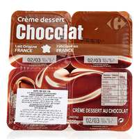 Carrefour Chocolate Flavoured Creame Desert 125g x 4