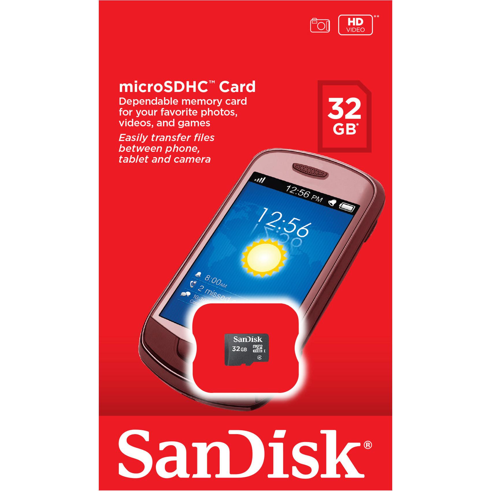 SANDISK MIC SD 32GB C4