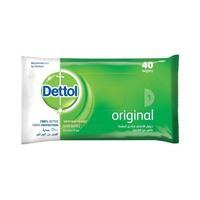 Dettol Original Anti-Bacterial Skin Wipes X40 Pieces