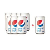Pepsi Diet Can 330ML 7+1 Free