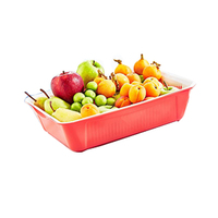 Rectangular Bowl With Stainer Assorted