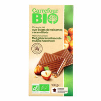 Carrefour Bio Organic Milk Chocolate Hazelnut 100g