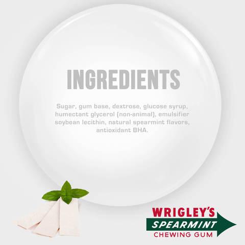 Wrigley's-Spearmint-Gum,-5-sticks