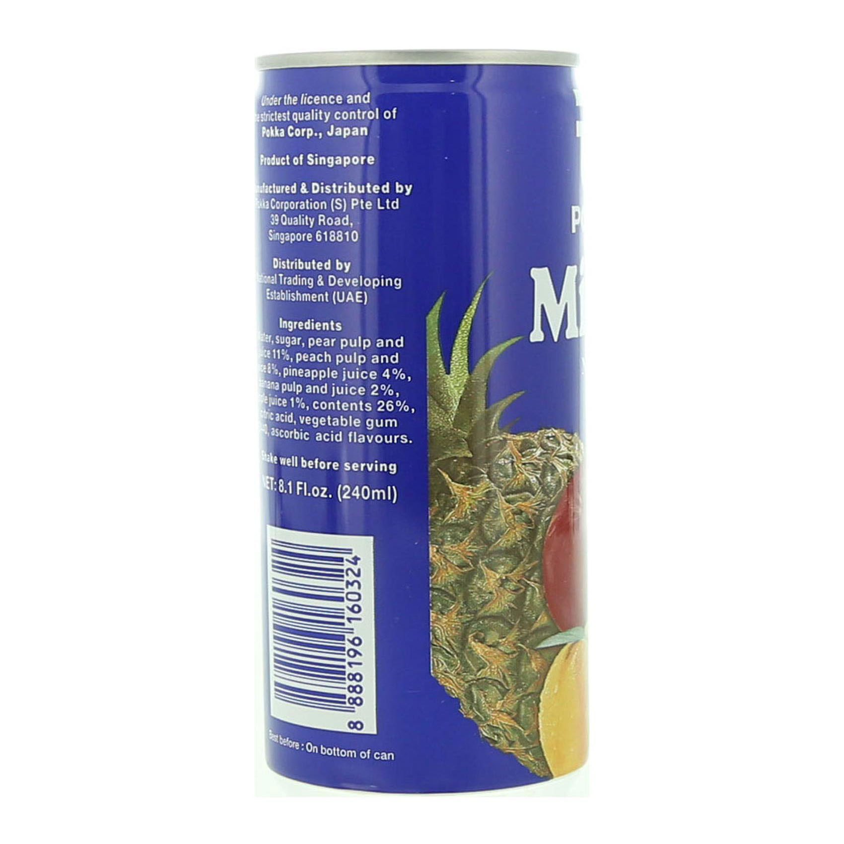 POKKA MIXED NECTAR 240 ML