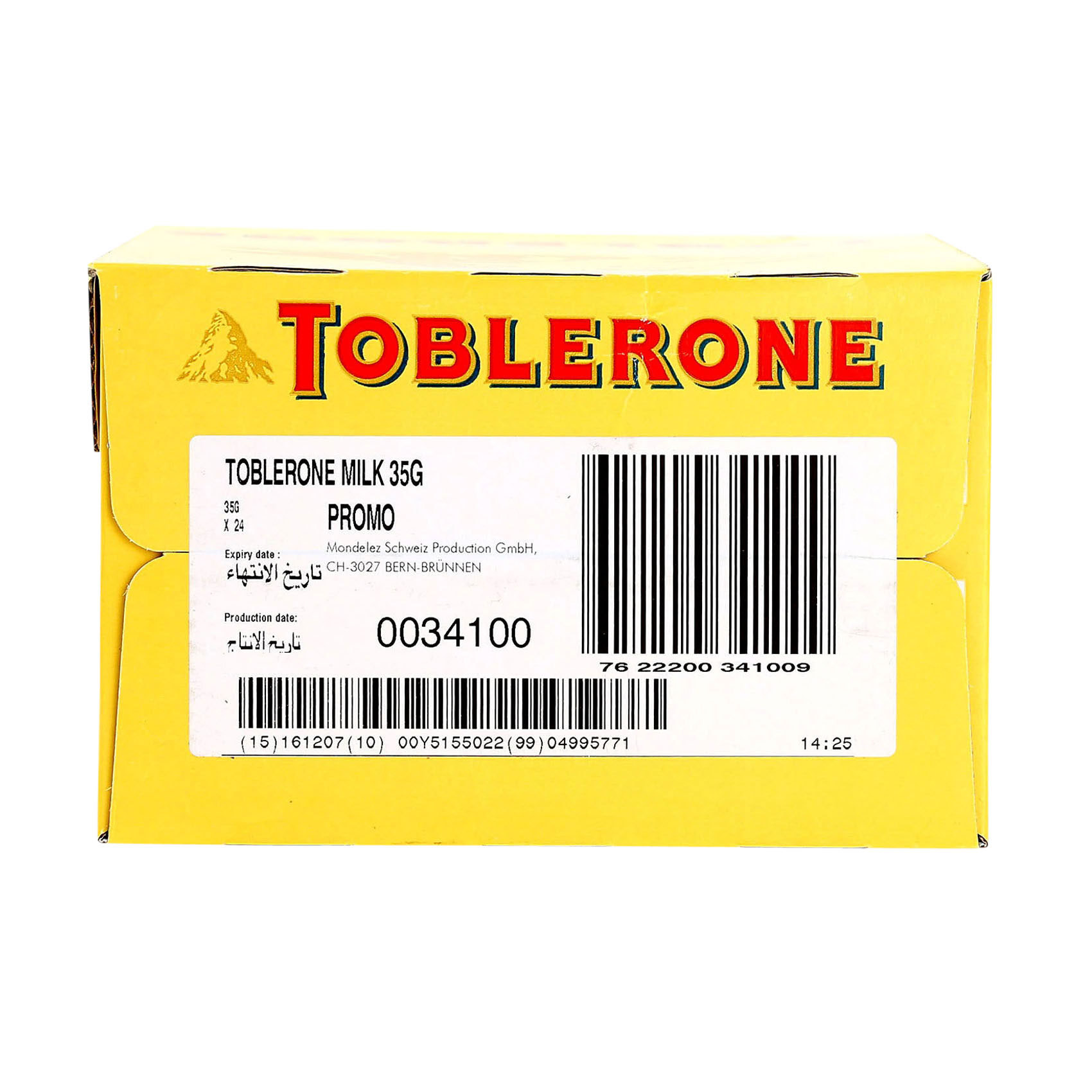 TOBLERONE CHOCOLATE MILK 35GRX24