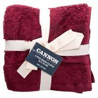 Cannon Face Towel 4pc set Cleret 33X33cm