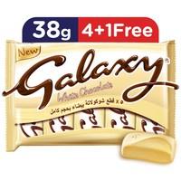 Galaxy white chocolate bars multipack 38 g x 5