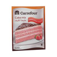 Carrefour Cake Mix Strawberry 500 Gram
