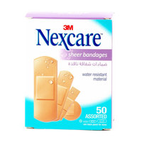 Nexcare Sheer Bandages 50 Assorted