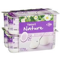 Carrefour Yoghurt Plain Styless 0% 125gx12