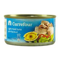 Carrefour Light Meat Tuna Chunks in Sunflower Oil 185g