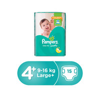 Pampers Baby-Dry Diapers Size 4+ Maxi Plus Carry Pack 15 diapers