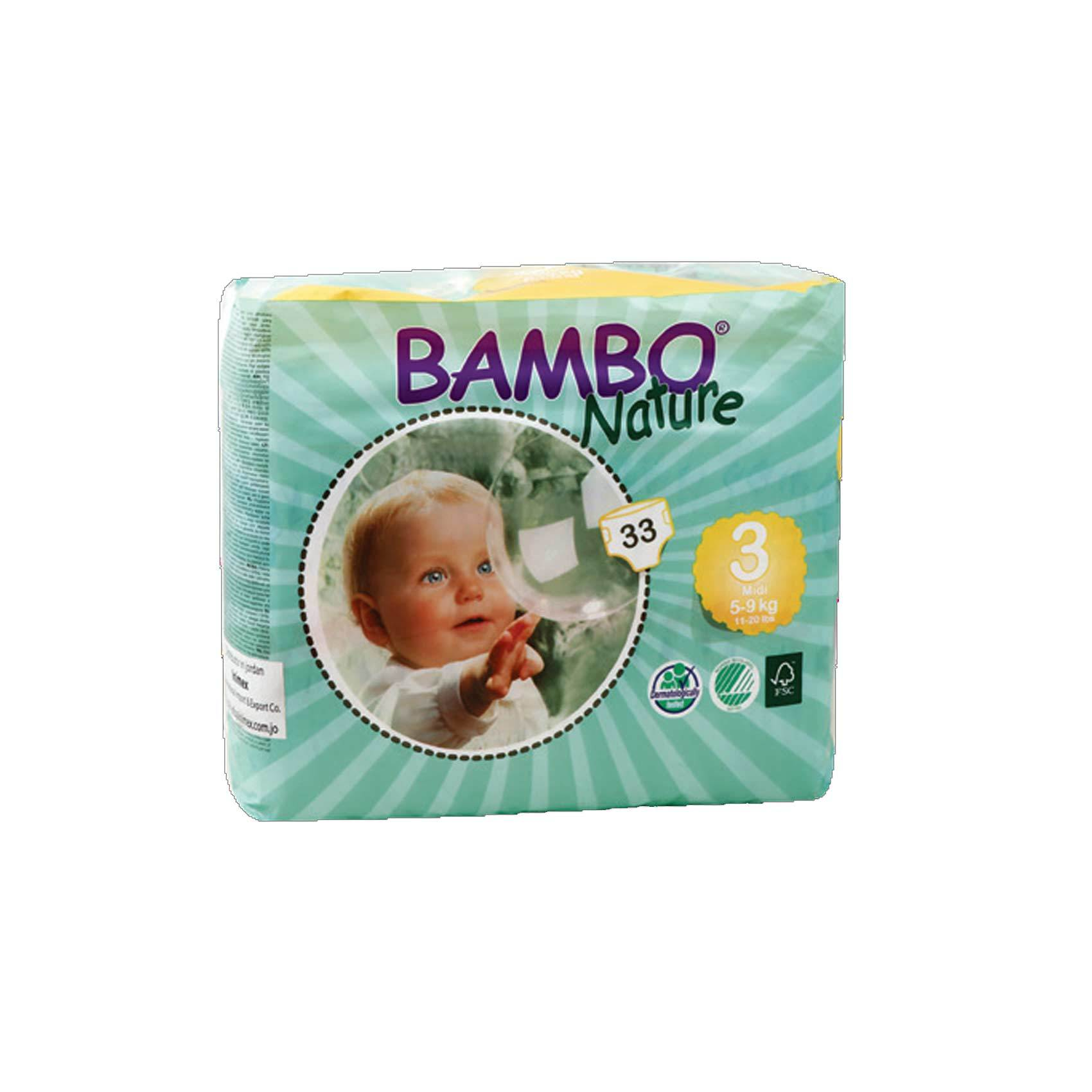 BAMBO NATURE DIAPERS MAXI 30 7-18KG