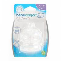 Bebeconfort Maternity Wide-Base Teat Silicone S.1 - 3 Speeds Slow-Medium x2