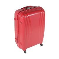 تراك هاي حقيبة سفر خامة صلبة 4 عجلات مقاس 25 انش لون أحمر