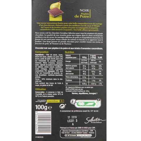 Carrefour-Selection-Gourmet-Dark-Pear-Chocolate-100g