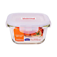 Lock & Lock Boroseal Glass Square Food Container HCLLG205 300ML