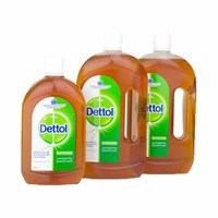 Dettol Antibacterial Surface Liquid Disinfectant Cleaner 2 X700ml + 500ML Free