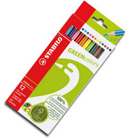 Green Color 12 Fsc Certified Color Pencil