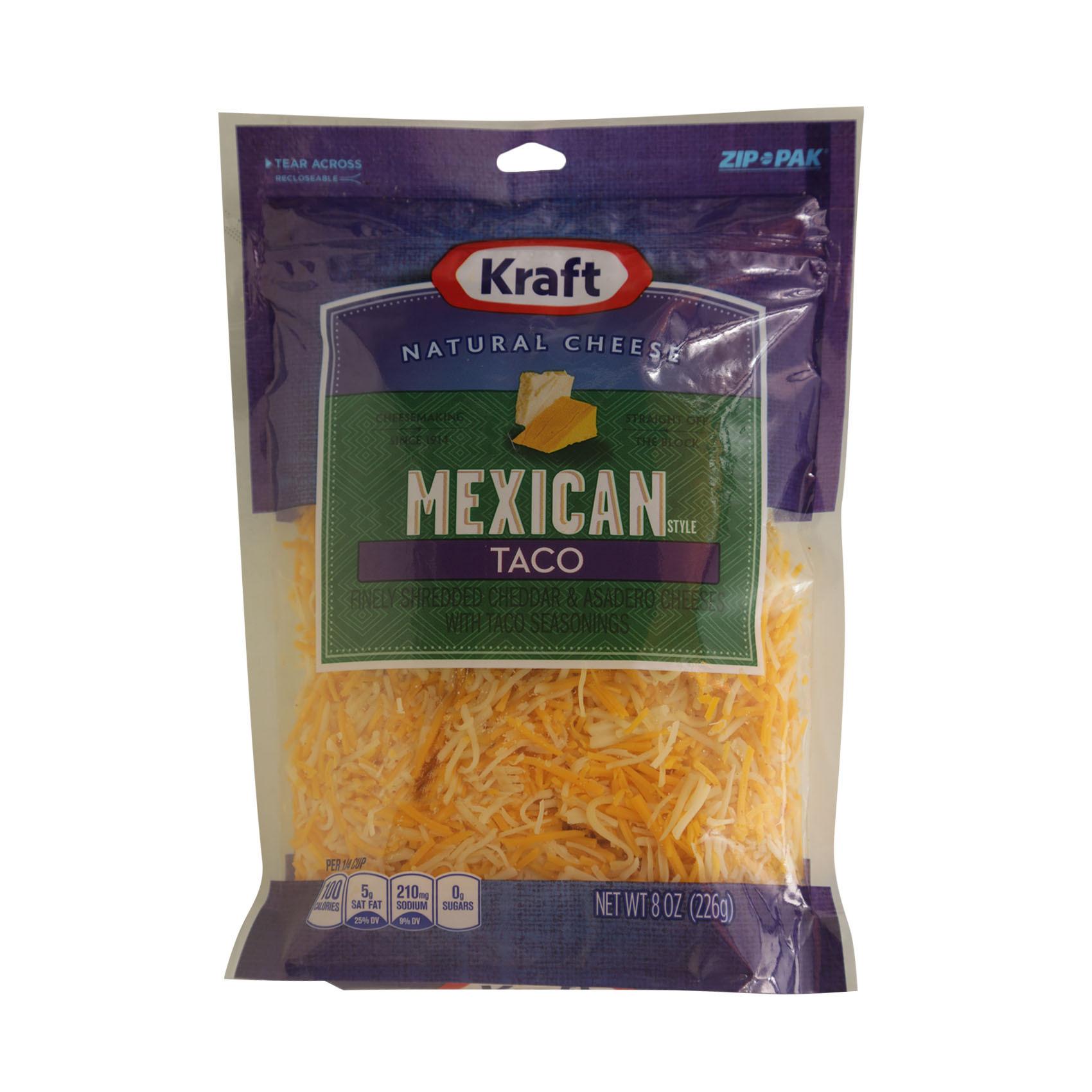 KRAFT SHREDDED MEX TACO CHEESE 226G