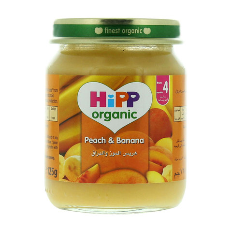 Hipp-Organic-Peach-&-Banana-125g