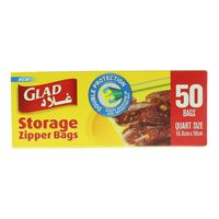 Glad Storage Zipper 50 Bags