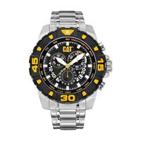 CAT Men's Watch Dp Sport Evo Analog Black Dial Silver Metal Band 45.5mm  Case